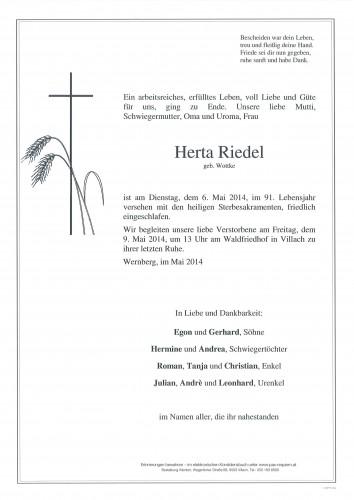 Herta Riedel geb. Wottke