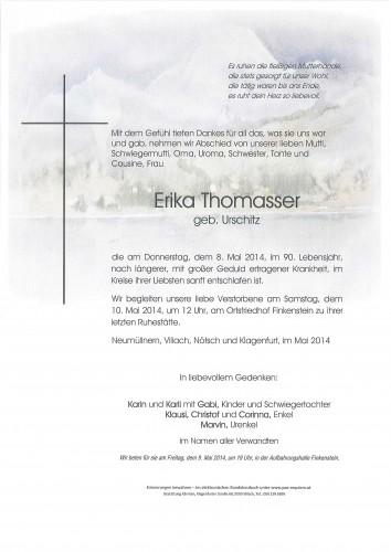 Erika Thomasser, geb. Urschitz
