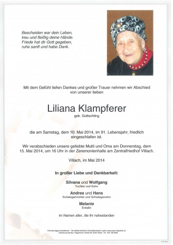Liliana Klampferer geb. Gottschling