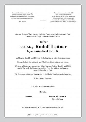 Prof. Mag. Rudolf Leitner