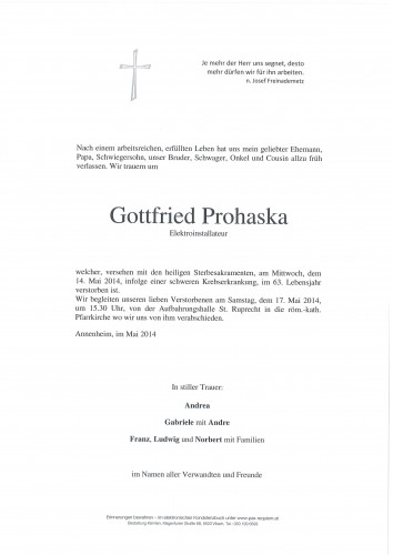 Gottfried Prohaska