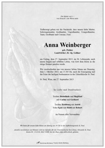 Anna Weinberger geb. Pichler
