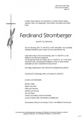 Ferdinand Stromberger