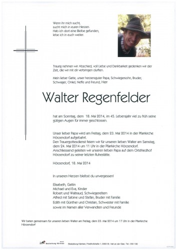 Walter Regenfelder
