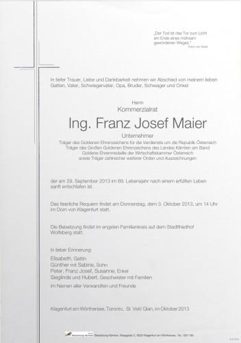KR Ing. Franz Josef Maier
