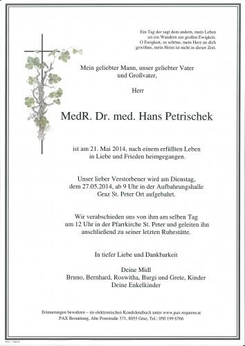 MedR. Dr. med. Hans Petrischek