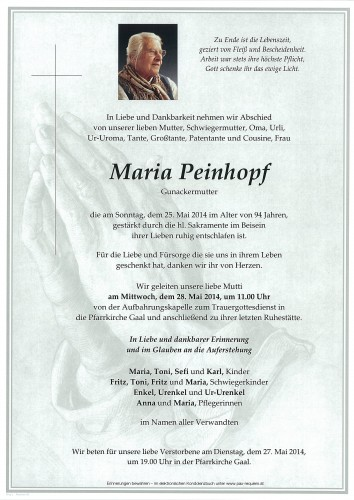 Maria Peinhopf
