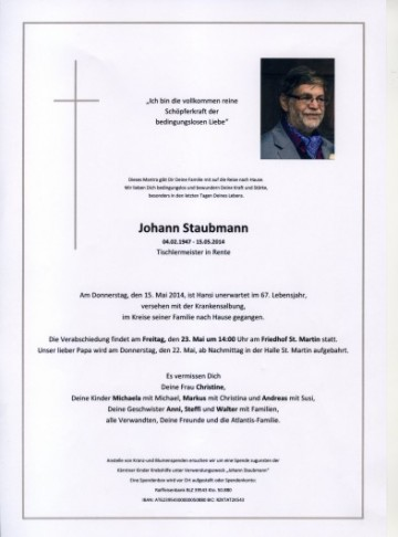 Johann Staubmann
