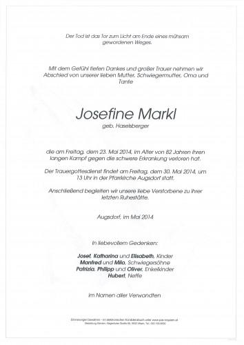 Josefine Markl geb. Haselsberger