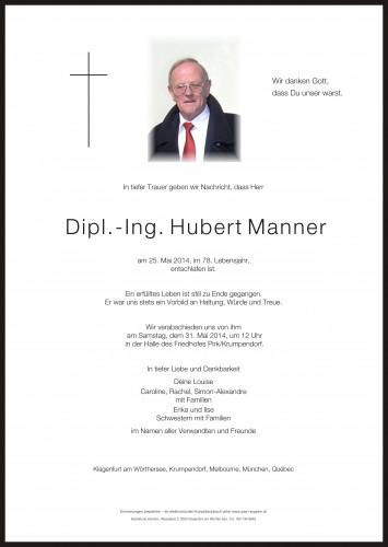 Dipl. Ing. Hubert Manner