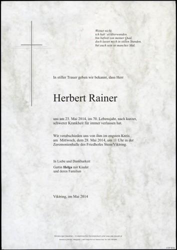 Herbert Rainer
