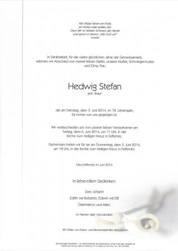 Hedwig Stefan