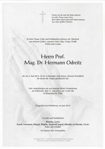 Prof. Mag. Dr. Hermann Odreitz