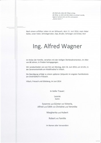 Ing. Alfred Wagner