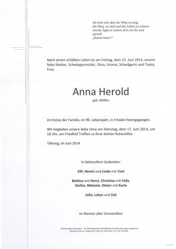 Anna Herold geb. Mößler
