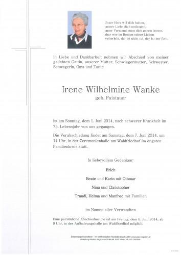 Irene Wanke geb. Faistauer