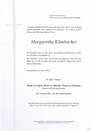 Margaretha Klimbacher