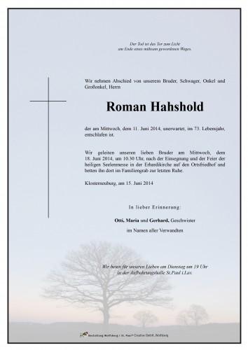 Roman Hahshold