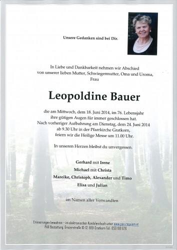 Leopoldine Bauer