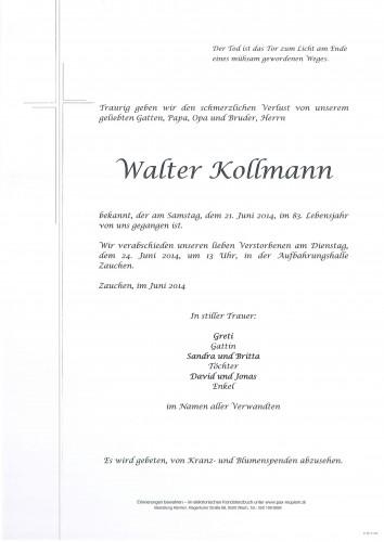 Walter Kollmann
