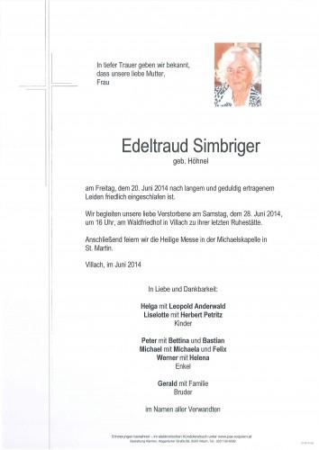 Edeltraud Simbriger