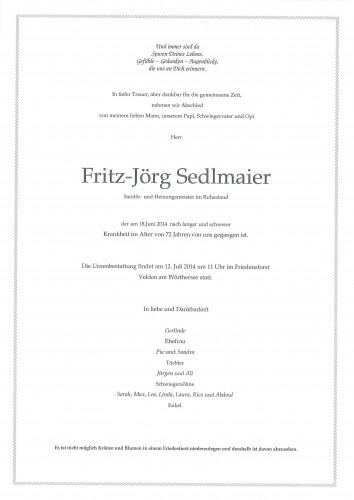 Fritz-Jörg Sedlmaier