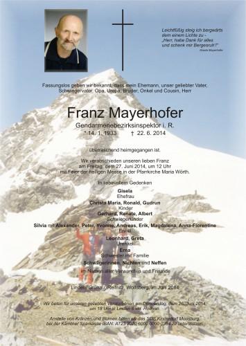Franz Mayerhofer