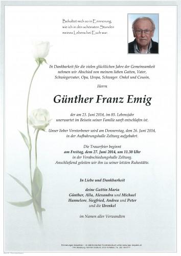 Günther Franz Emig