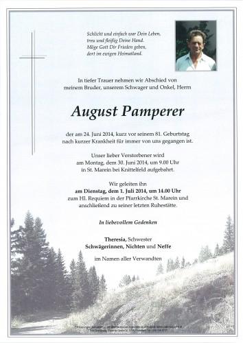 August Pamperer