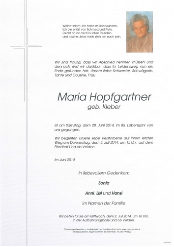 Maria Hopfgartner