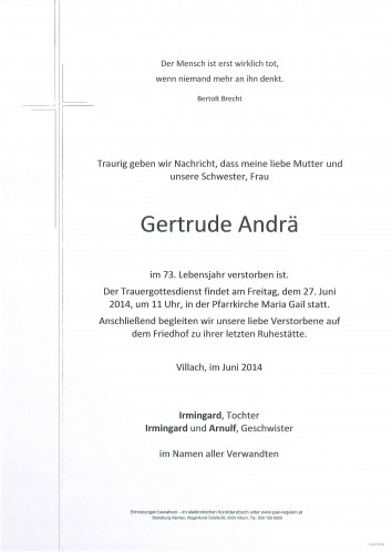 Gertrude Andrä geb. Dietl