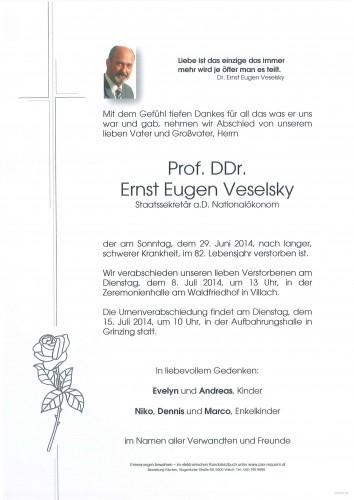 Prof. DDr. Ernst Eugen Veselsky