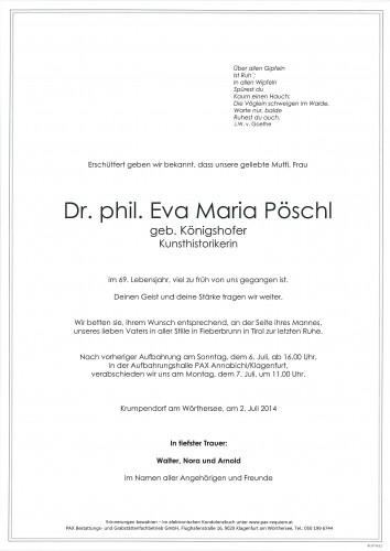 Dr. phil. Eva Maria Pöschl