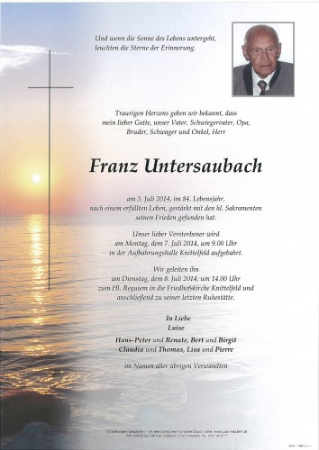 Franz Untersaubach