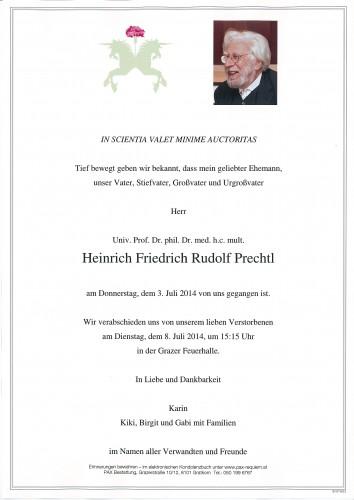 Univ.Prof.Dr. Heinrich Friedrich Rudolf Prechtl