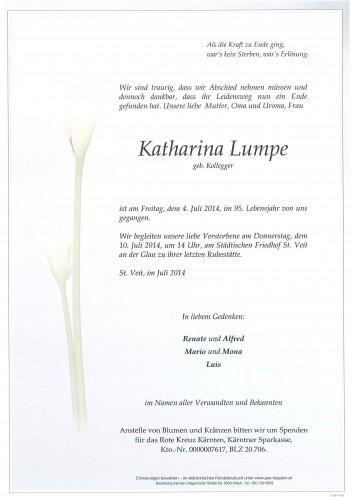Katharina Lumpe geb. Kollegger