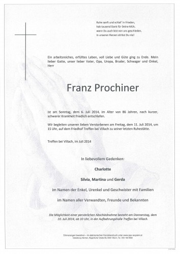 Franz Prochiner