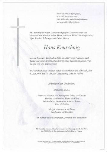 Hans Keuschnig