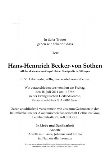 Hans-Hennrich Becker-von Sothen