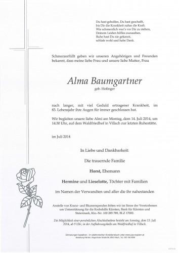 Alma Baumgartner