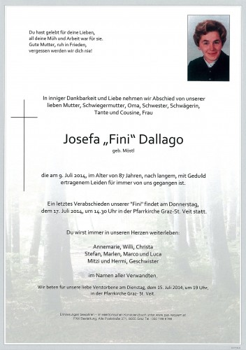 "Josefa ""Fini"" Dallago"