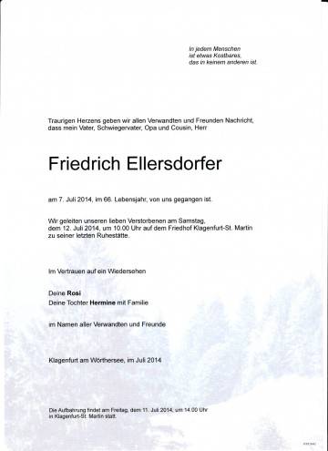 Friedrich Ellersdorfer