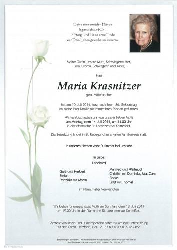 Maria Krasnitzer