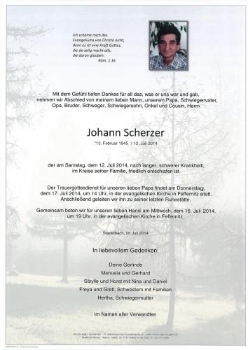 Johann Scherzer