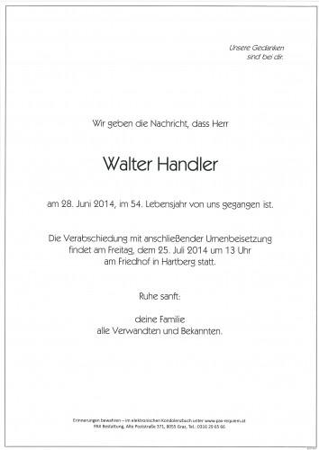 Walter Handler