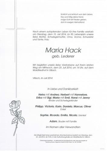 Maria Hack