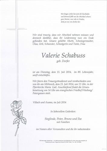 Valerie Schabuss