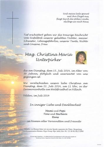 Mag. Christina Maria Unterpirker