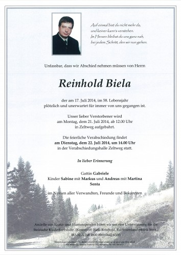 Reinhold Biela