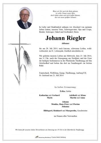 Johann Riegler